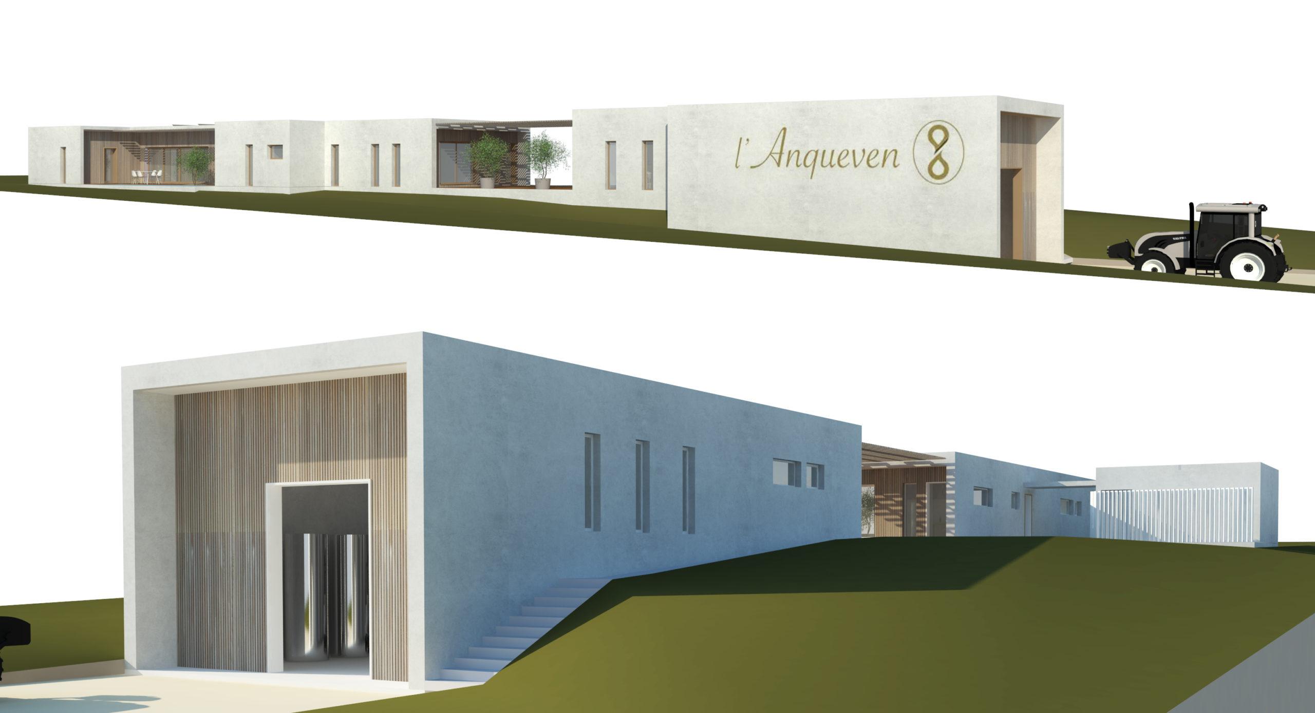 chai viticole lanqueven architecture mca